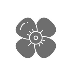 Cherry flower apple blossom gray icon vector