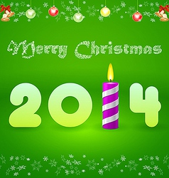 Christmas card with the inscription 2014 and vector image vector image