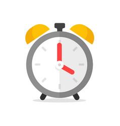 Clock alarm icon flat cartoon modern symbol vector