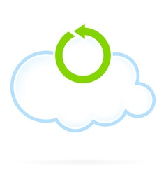 Cloud Computing Icon Reload vector image