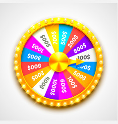 colorful fortune wheel transparent background vector image