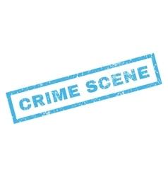 Crime Scene Rubber Stamp vector