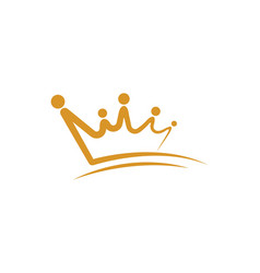 Crown logo template icon vector