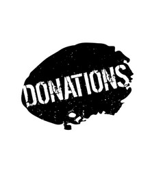 Donations rubber stamp vector