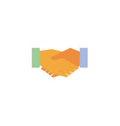 Done deal handshake flat icon vector