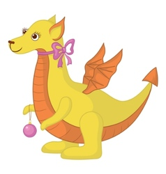dragon cartoon vector image