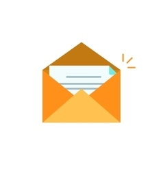 envelope open with letter icon isolated on vector image