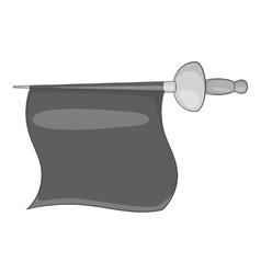 Fabric matador icon gray monochrome style vector