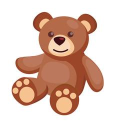 flat teddy bear batoy vector image
