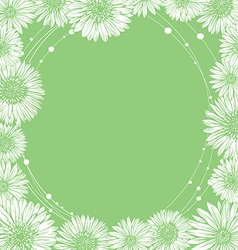 floral frame template edge chamomile vector image