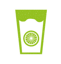 Fresh orange juice drink icon vector