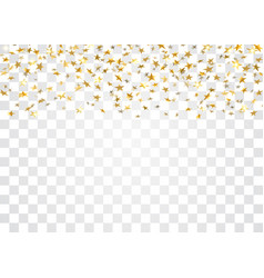 Gold stars falling confetti isolated on white vector