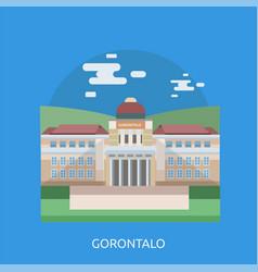 Gorontalo city of indonesia conceptual design vector