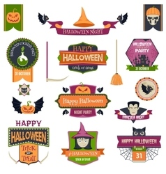 Halloween Badges and Labels vector image