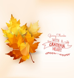 Happy Thanksgiving Autumn background with vector