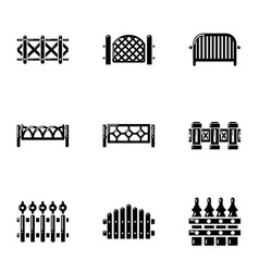 Hedge icons set simple style vector