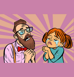 Hipster couple man and woman crying and praying vector