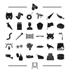 Hotel travel weather and other web icon in black vector