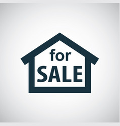 house for sale icon for web and ui on white vector image