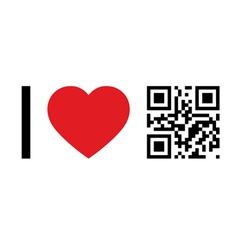 I love qr code vector