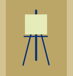 Icon easel flat design symbol vector