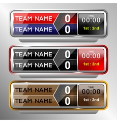 icons scoreboard template vector image