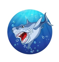 Images evil shark vector