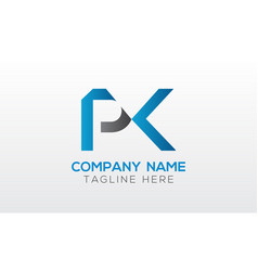 initial pk letter logo with creative modern vector image