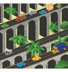 Isometric road vector image