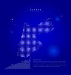 Jordan illuminated map with glowing dots dark vector