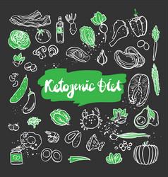 ketogenic sketch healthy keto vector image