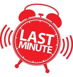 Last minute alarm clock icon vector image