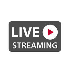 Live streaming icon symbol isolated on white vector