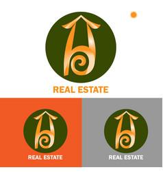 Logo template design for real estate free vector