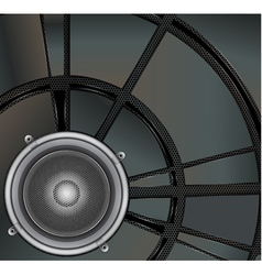 Loud Speaker on a metallic background vector image