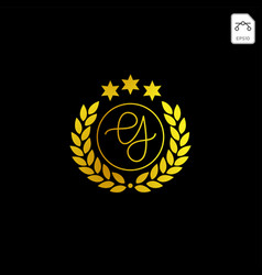 Luxury g initial logo or symbol business company vector