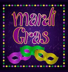 mardi gras carnival party design vector image