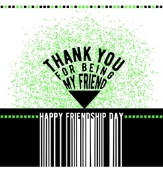 modern happy friendship day vector image