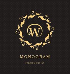 Monogram design elements graceful template vector