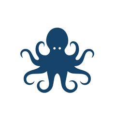 Myth animal kraken octopus logo design vector