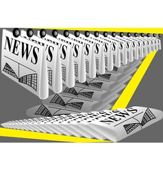 Newspaper printing vector