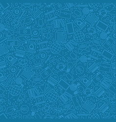 Online education icons in seamless pattern vector