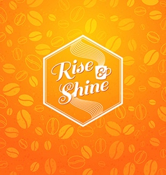 Optimistic morning statement for whole day vector