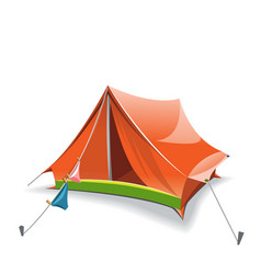 orange tent vector image