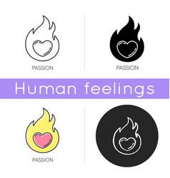 Passion icon vector