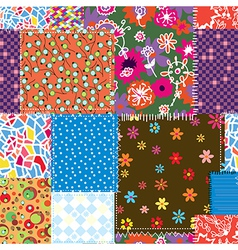 Patchwork seamless pattern vector