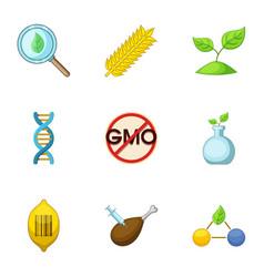 Peasant farm icons set cartoon style vector