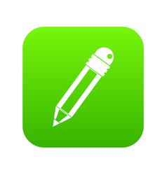 pencil with eraser icon digital green vector image