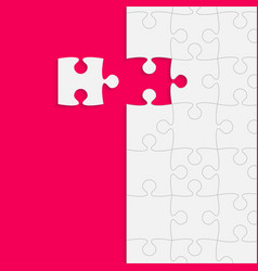 Pink background puzzle jigsaw puzzle banner vector