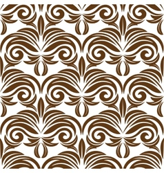 Retro brown floral seamless pattern vector image